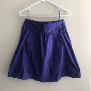 J. Crew A-Line Purple Skirt with Pockets Size 2